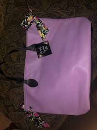 pink and black leather tote bag Augusta, 30815