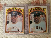 1972 Willie Mays Baseball Cards