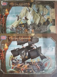 Disney Pirates of the Caribbean Mega Bloks 2 Ships Burlington, L7M