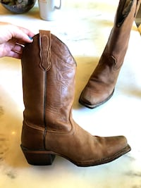 Leather Cowboy Boot Stafford, 22554