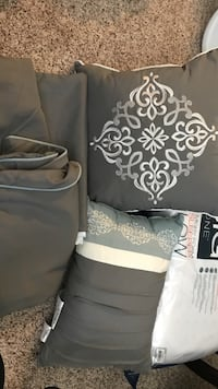 Decor for bedding all brand new ! Pillows and bed skirt one and two pillow shams