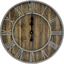 "20"" Wooden Roman Farmhouse Wall Clocks"