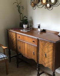 Antique walnut sideboard and China cabinet  Calgary, T2X 0H8