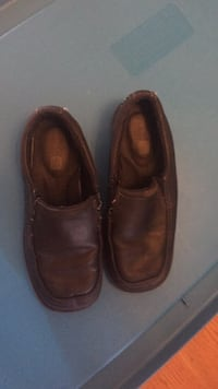Pair of brown leather slip-on shoes Burnaby, V3N 2K1