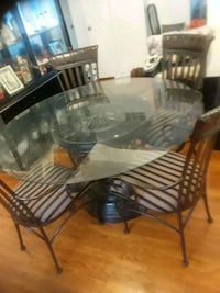 black and white wooden dining set Falls Church, 22044