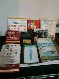 Various books and dictionaries