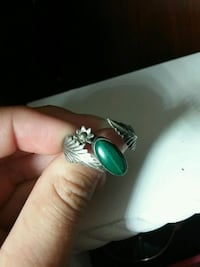 silver-colored and green gemstone ring Lodi, 95242
