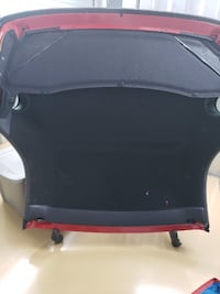 Hardtop for red Thunderbird with wheeled cart negotiable price