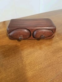 Rosewood carved ring box Victoria, V9A 6A6