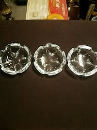 three clear glass bowl and plate Surprise, 85379