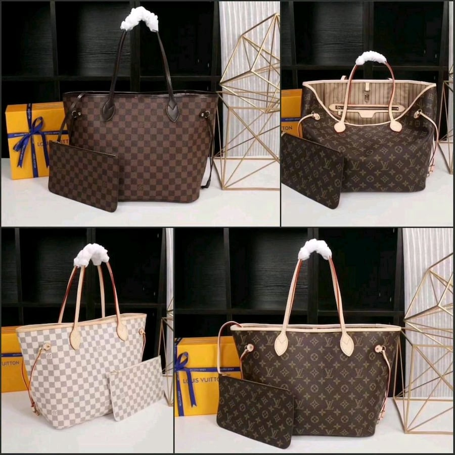lv neverful leather for her aaaa