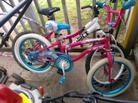 toddler's pink and white bicycle Greenville, 29611
