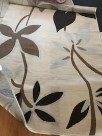 white and black floral area rug Calgary, T3J 3A7