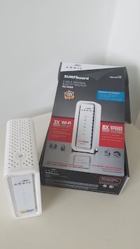 white Arris Surfboard cable modem with box Alexandria, 22311