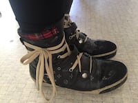 Ladies Japanese brand Black shoes with plaids Whitchurch-Stouffville, L4A 5Z4