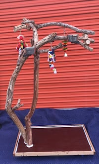 Funky / artsy parrot perch tree ... very thick and durable !  Looks great ! Irvine, 92614