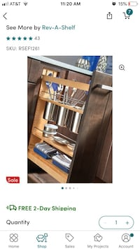 Utensil Organizer Pull Out Cabinet