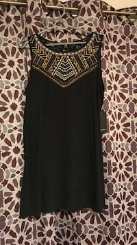 Black, brown, and white scoop-neck sleeveless top size m brand new  Austin, 78721