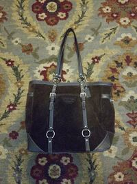 women's brown and gray Coach tote bag Seaside, 93955