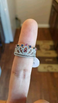 white and blue floral ring Austin, 78704