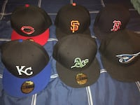 6 mlb grey brim fitteds all size 71/4  New York, 10035