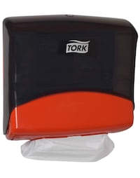 Tork Performance Folded Wiper/Cloth Dispenser, Plastic, Red
