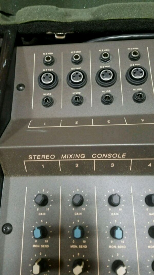 Used gray and black audio mixer for sale in Swansea - letgo