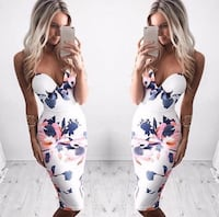 Women's Floral Printed Dress brand new small