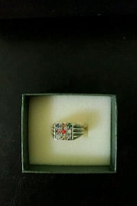 silver men's ring with clear gemstone Mississauga, L5K 2G9