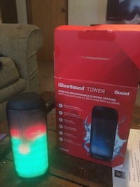 black and red bluetooth speaker