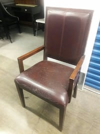 Mid century Mod Distressed Leather Arm chair