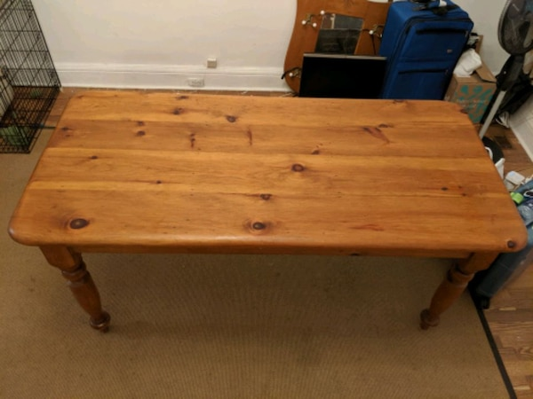 Large wooden hand crafted table  c08bd0ca-9f5a-43f6-a75f-60ce3561b496