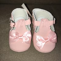 Brand new baby girl pink shoes size 3/4 Toronto, M9W 4L6