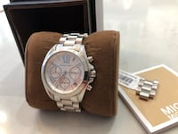 100% authentic brand new women's Michael Kors Bradshaw Watch Silver Vaughan, L4H