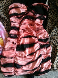 Pink and black party dress Houston, 77063