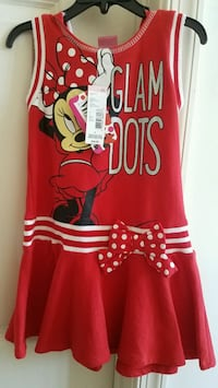 New with tags girls clothes Minnie mouse hooded sports dress size 6 Rockville