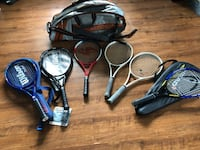 6 tennis racquets, and a bag Langley, V3A 1P7