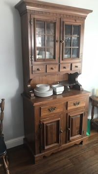 white ceramic plates and bowls in bakers cabinet Napa, 94558
