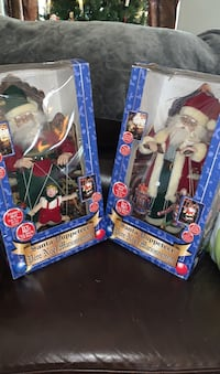 Two Santa puppeteer Christmas decorations. Works Excellent condition  Suffolk, 23435