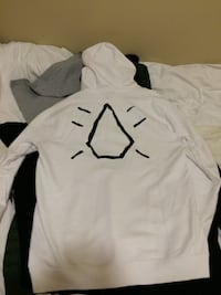 """Volcom """" white shard ninja juice"""" hoodie sz XL $100 obo very rare simple but explicitly ssssick all nine low ballers offers welcome"""