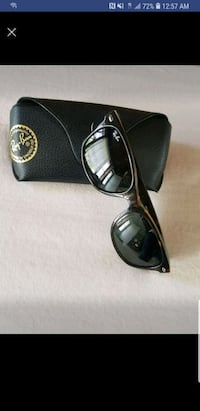 black framed Ray-Ban sunglasses with case Woodland Park, 07424