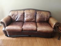 Leather couch and chair  Coquitlam, V3B 0C6