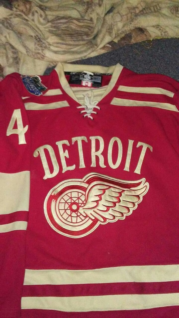 brand new 95ddb 7c374 Authentic red wings jersey