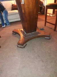 brown wooden framed glass top table Baltimore, 21216