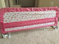 Pink and white floral bed rail from standard to queen bed size Annandale, 22003