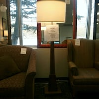 """Wood base floor lamp approximately 6"""" high"""