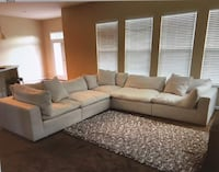 Value City Plush 6-Piece Sectional w/ Ottoman-Anders Ivory *Brand New* Washington, 20001