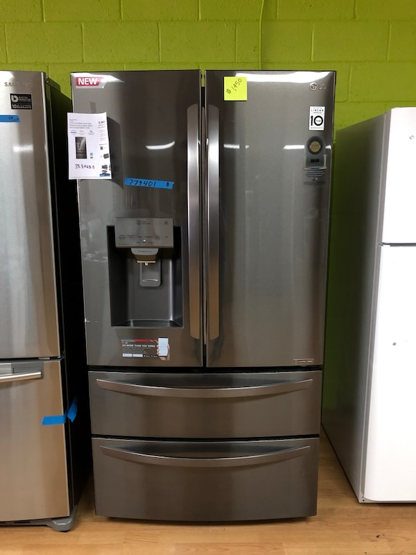 BRAND NEW LG black stainless steel double French door refrigerator
