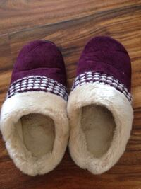 Pair of purple suede winter shoes Falls Church