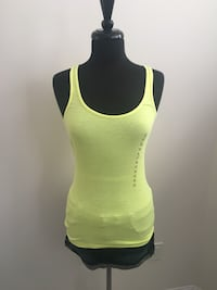 New neon yellow tank size M